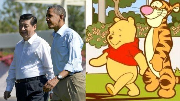 2013年6月,中國國家主席習近平訪美,與時任美國總統歐巴馬會面,照片被網民聯想...