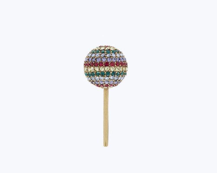 可用來裝飾包款的棒棒糖胸針,1,890元。圖/Marc Jacobs提供
