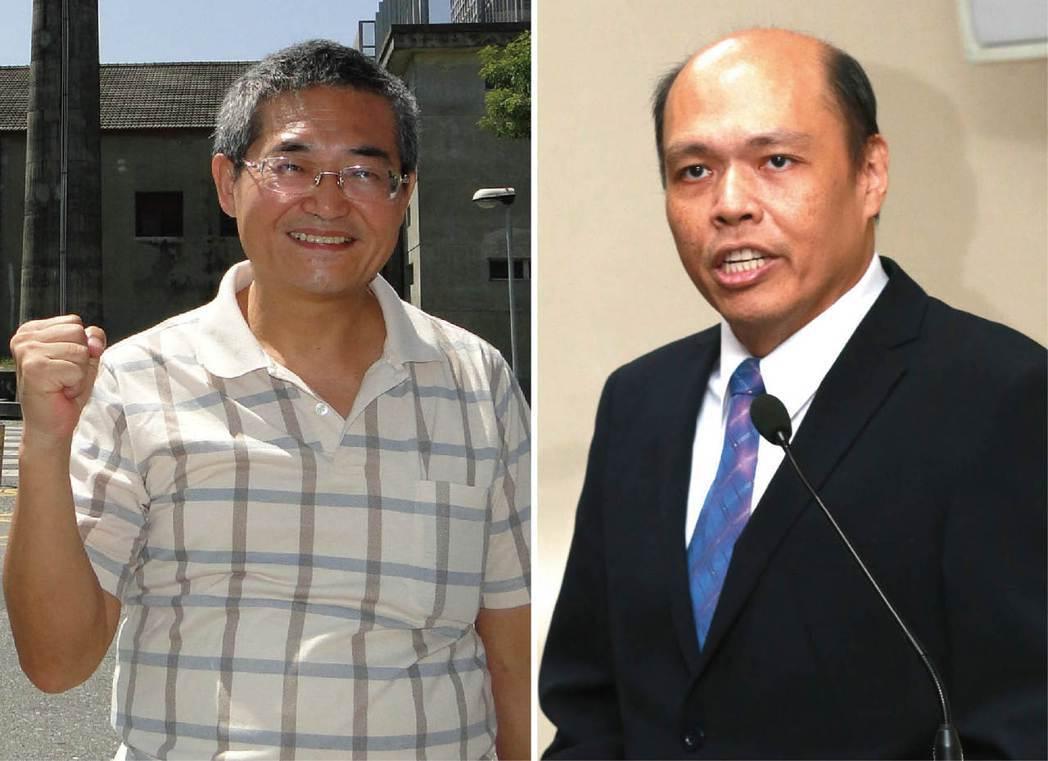 國發院長林忠山(左圖)和大陸事務部主任黃清賢(右圖),最遲七月底將卸任。 圖/本...