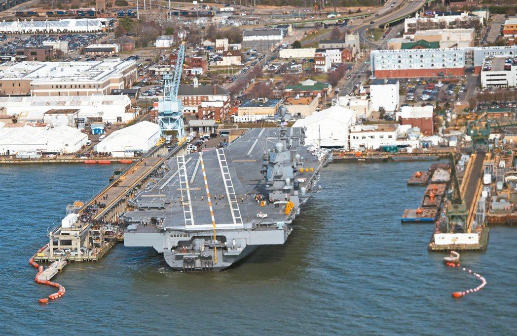美國「福特號」航母除安裝電磁彈射系統外,還包括升級的核動力裝置,更大的甲板、更先...