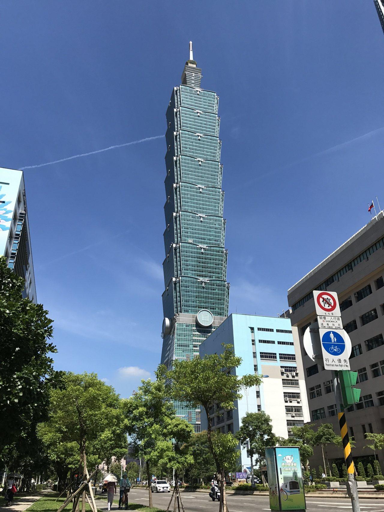 台北101以租金回推,每坪約180萬元。記者游智文/攝影