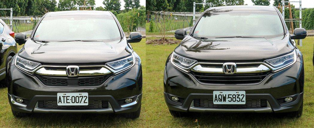 1.5S(左)較1.5 VTi-S(右)在外觀上多了鍍飾條。 記者史榮恩/攝影