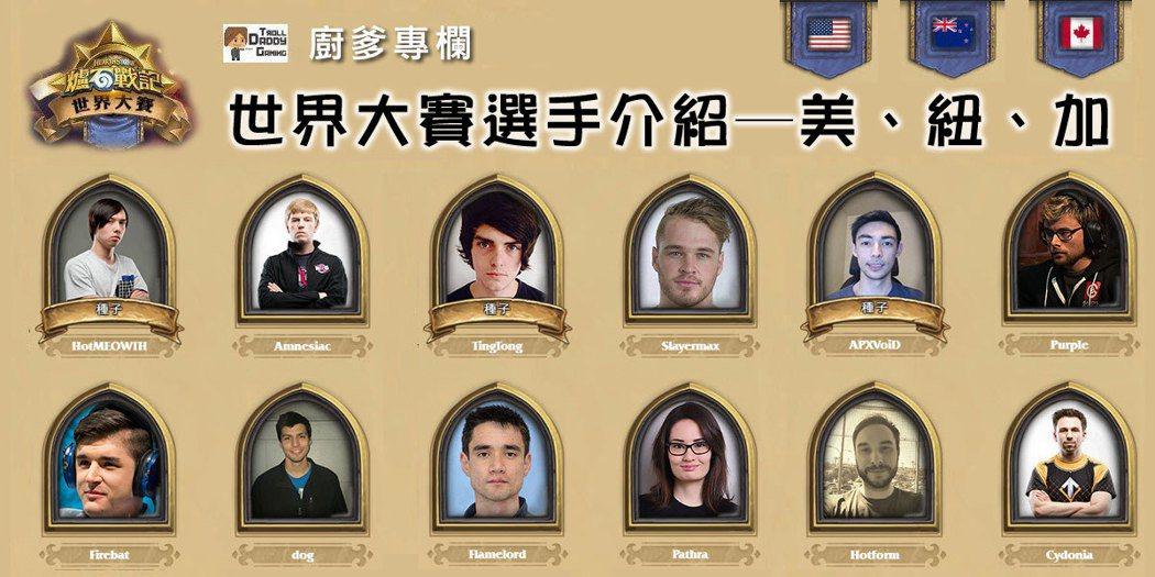 HGG《爐石戰記》世界大賽選手介紹。