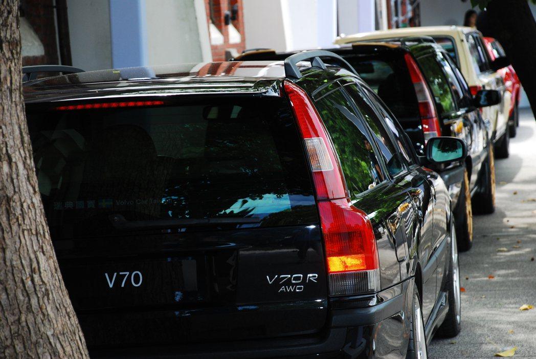 一整排的Volvo旅行車老前輩。記者林昱丞/攝影
