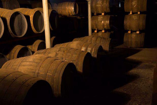 蘇格登格蘭奧德酒廠橡木桶儲酒區。圖/帝亞吉歐提供