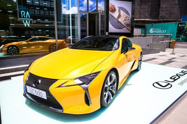 LEXUS LC500跑車展示。記者王騰毅/攝影