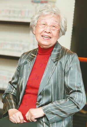 齊邦媛教授,攝於2005年10月。 (圖/本報資料照片)