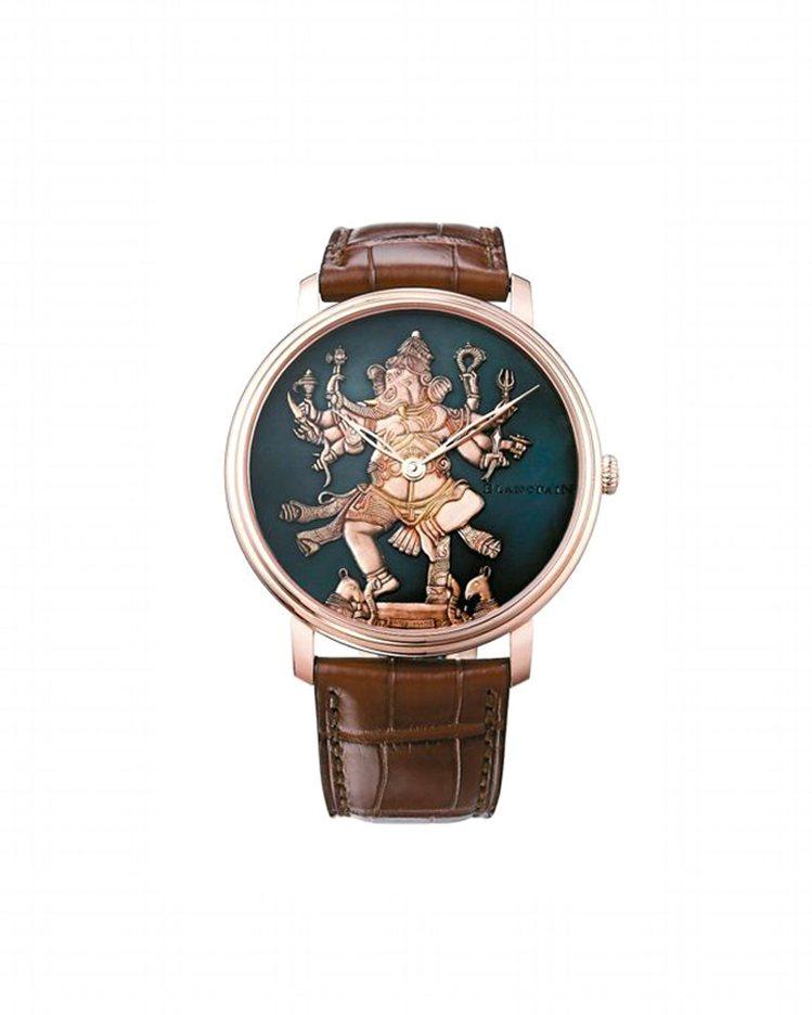 寶鉑藝術大師系列象神表,,18K紅金材質錶殼,Shakudo赤銅表盤,手工裝飾與...
