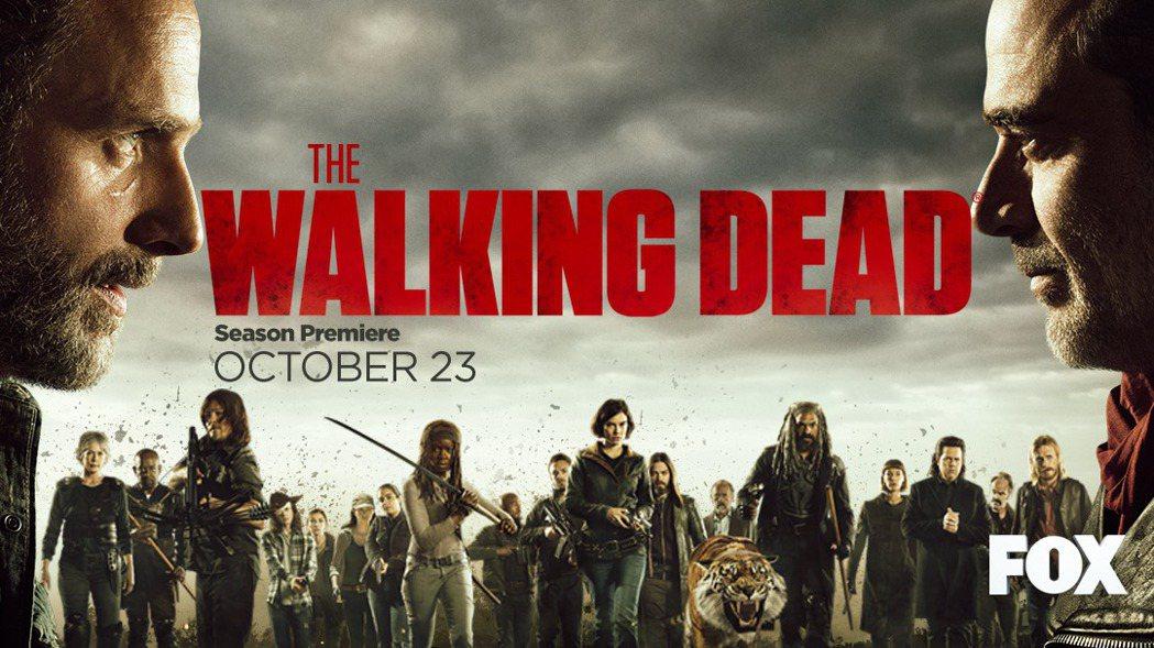 第8季「陰屍路」將於台灣時間10月23日首播。圖/FOX提供