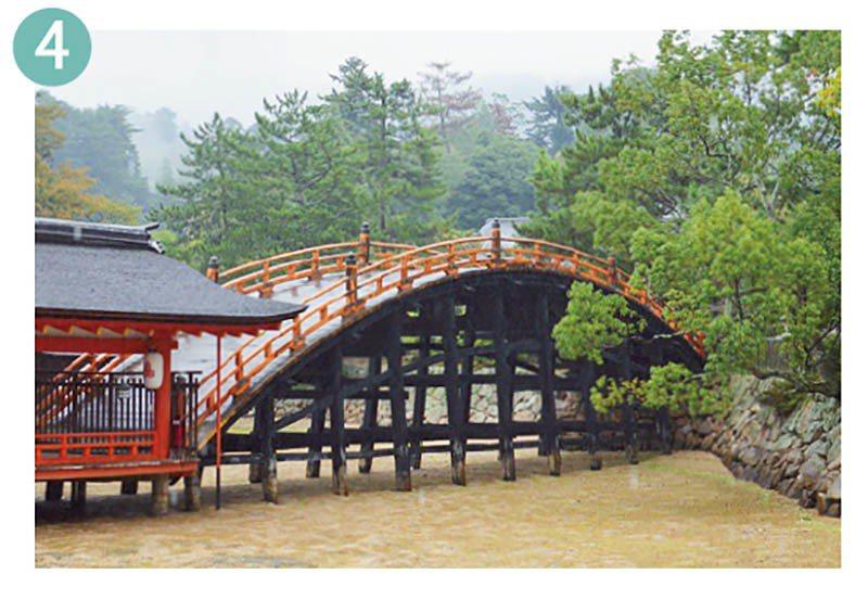 據說從前在進行重要祭典之祭,敕使會橫渡這座反橋進入本社內。然而隨著地形變化,如今...