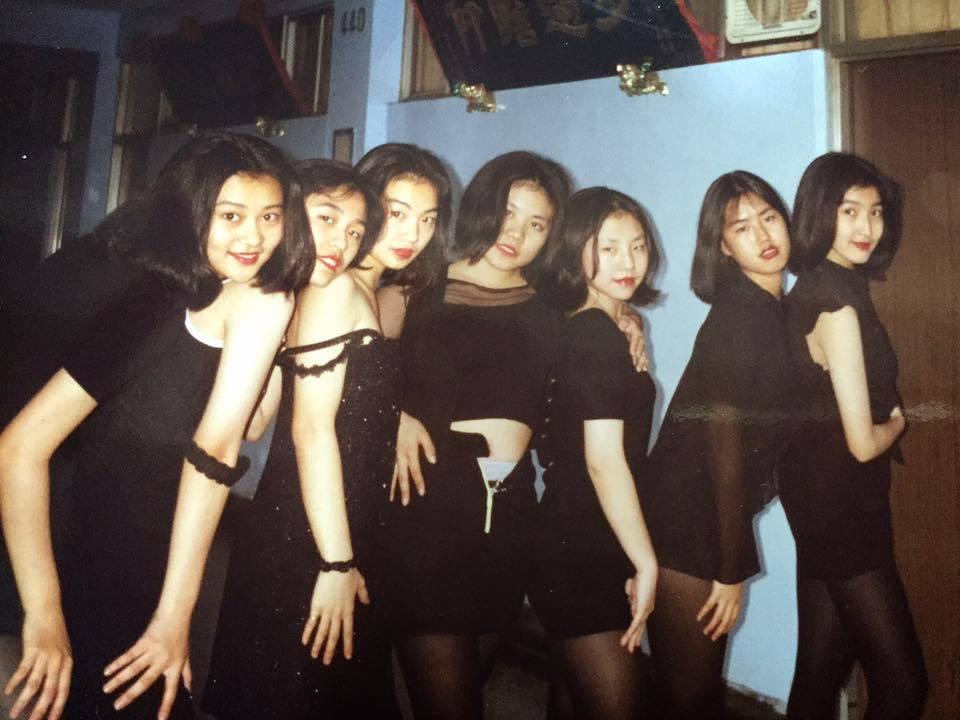 楊謹華分享自己高中時期的照片。 圖/擷自楊謹華臉書