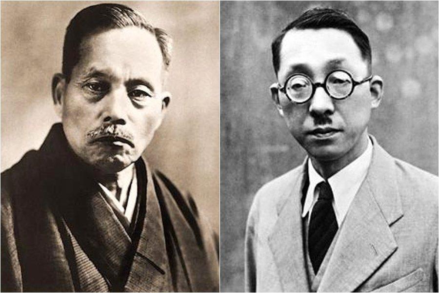 創價的初代會長牧口常三郎(左),與二代會長戶田城聖(右)。 圖/維基共享