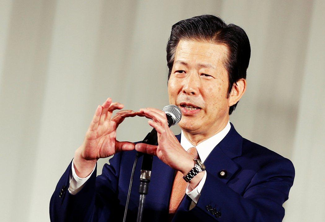 公明黨代表、現任參議員山口那津男 圖/路透社