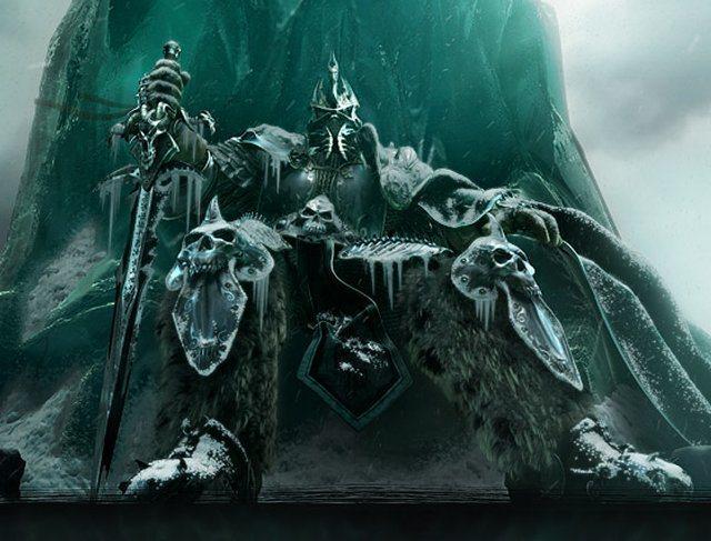 與巫妖王融合成為一體的阿薩斯