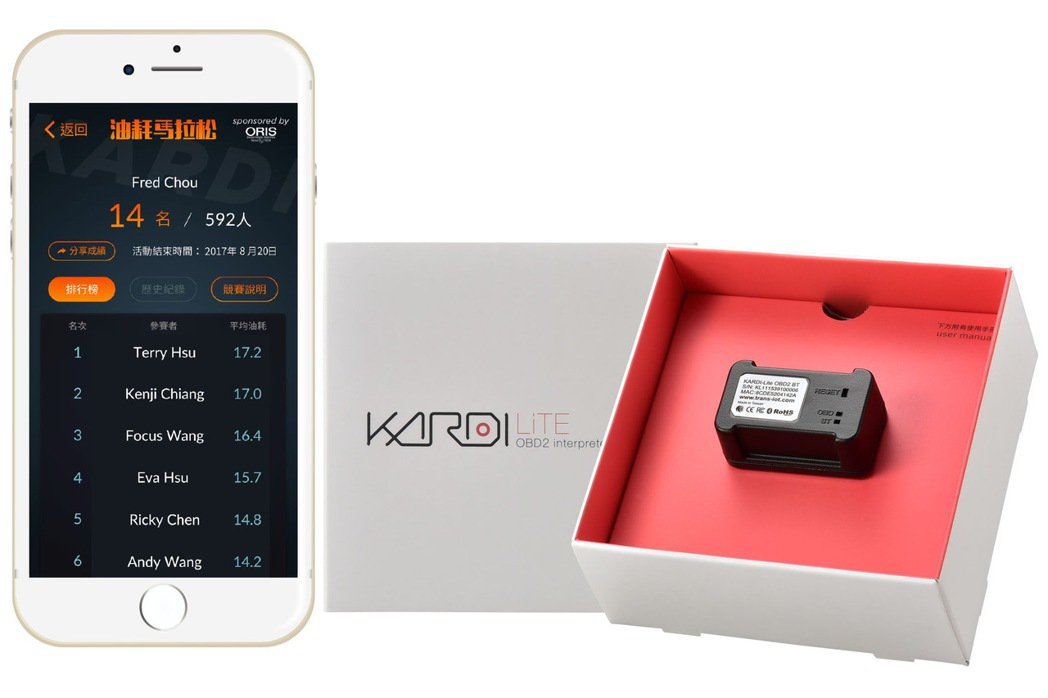 智慧車聯網KARDI推出24小時虛擬實境油耗馬拉松競賽,透過KARDI LiTE...