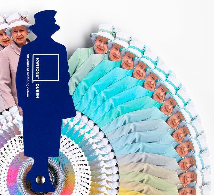 為了慶祝英國女王伊莉莎白二世登基60年,Pantone與Leo Burnett ...
