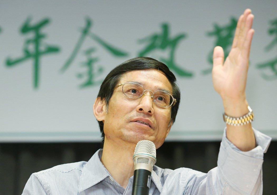 年金改革委員會副召集人林萬億,在2011年爆出桃色風波。 圖/本報資料照