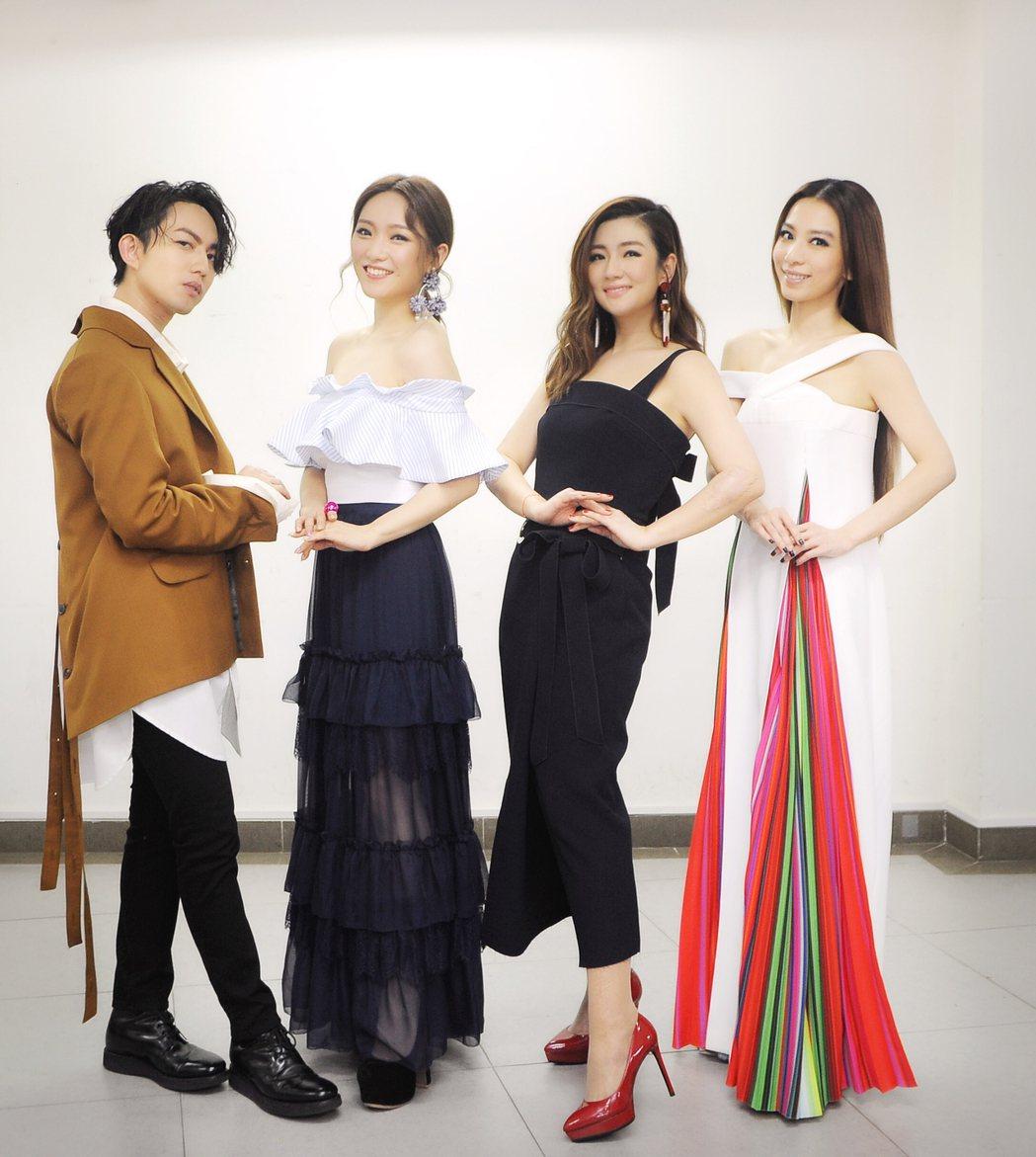 田馥甄、Selina、閻奕格及林宥嘉出席騰訊&MTV亞洲金曲大賞。圖/華研提供