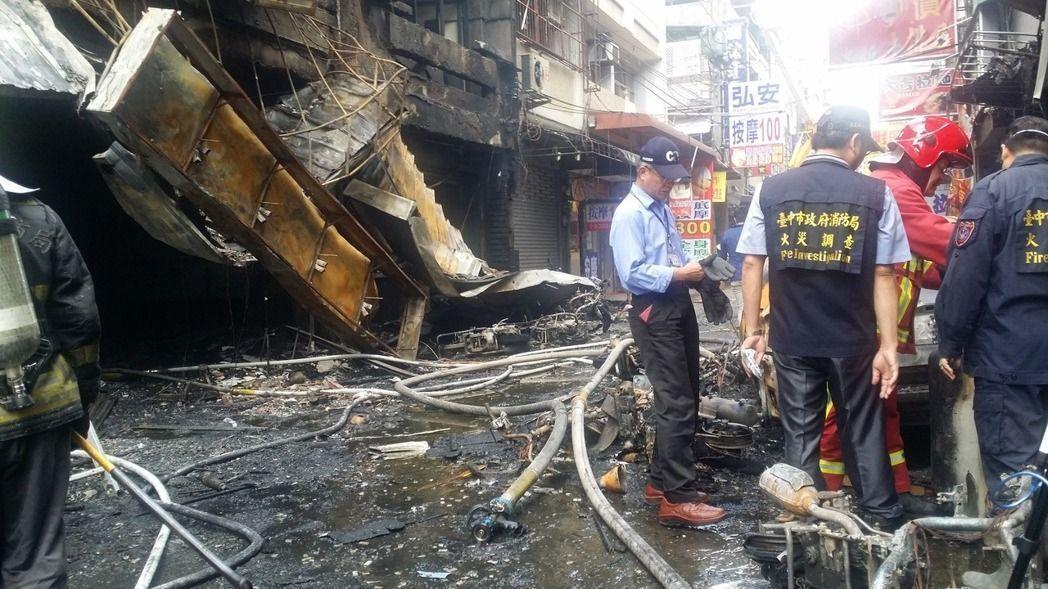 台中市逢甲商圈日前發生氣爆。 記者游振昇/攝影