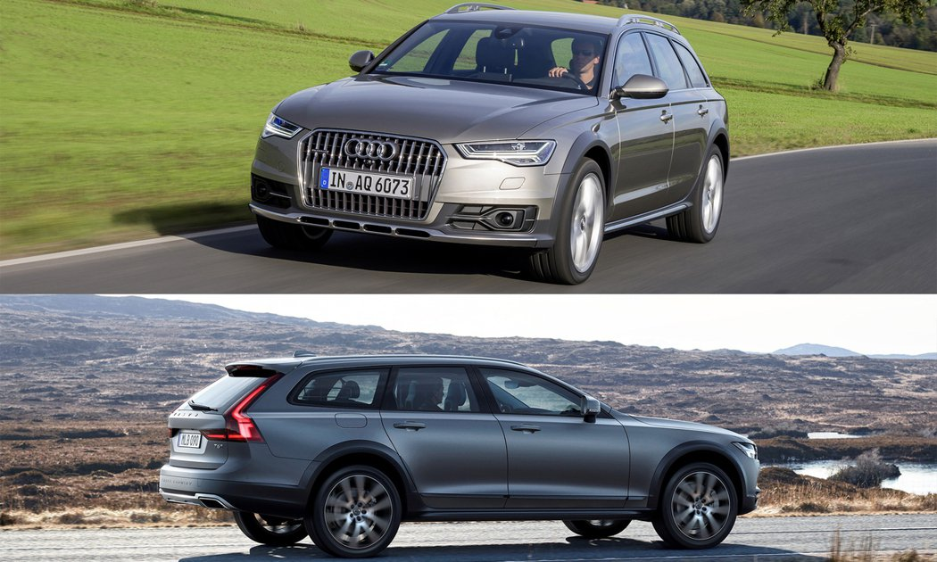 A6 allroad quattro(上)、Volvo V90 Cross Country(下)。圖/Audi、Volvo提供