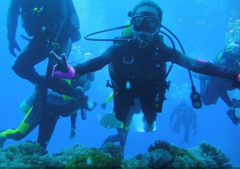潛水證照課。(圖/旅途中)