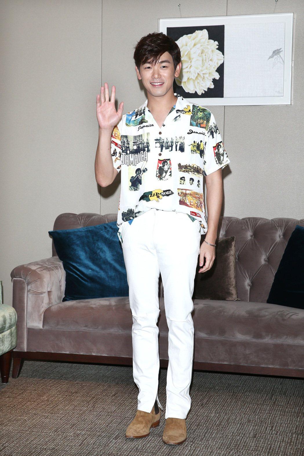 韓星男歌手 Eric nam本名南允道來台舉行演唱會。記者蘇健忠/攝影
