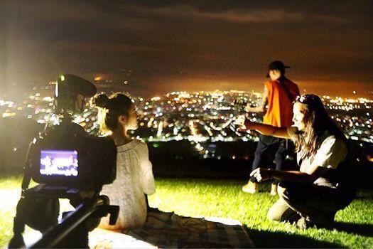 謝和弦拍攝《光害》MV就是用虎頭山夜景,絕美場景展現另類「埔里之『光』」。圖/赤...