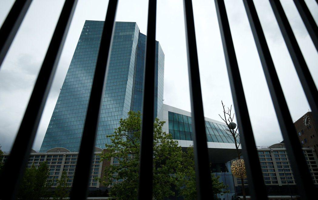 歐洲央行總部設在法蘭克福。(路透)