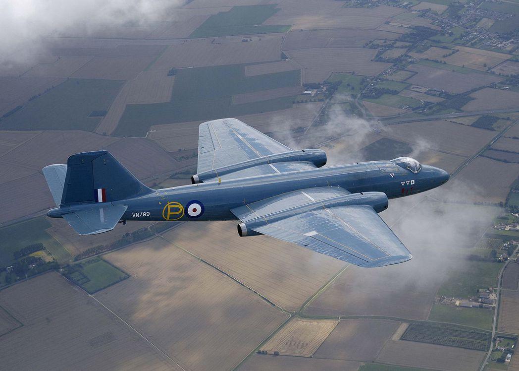 英國的坎培拉(Canberra)轟炸機。 圖/取自維基