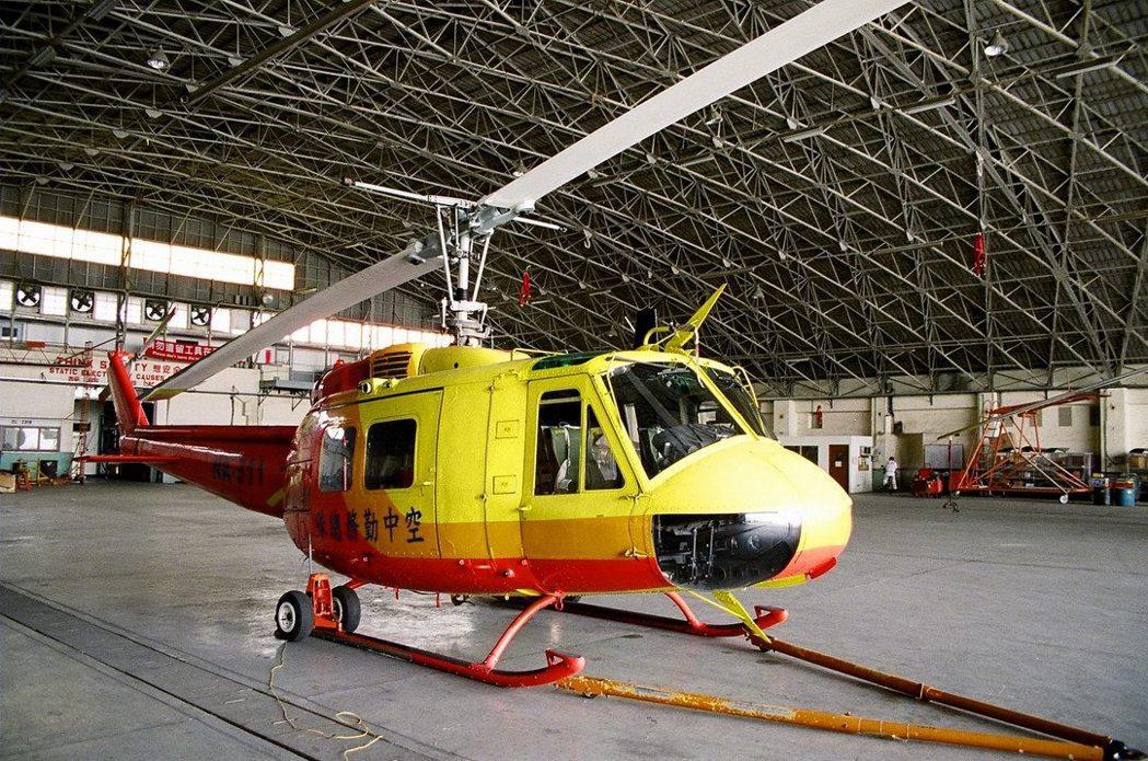 與NA-510同型的空勤總隊UH-1直升機。 圖/報系資料照