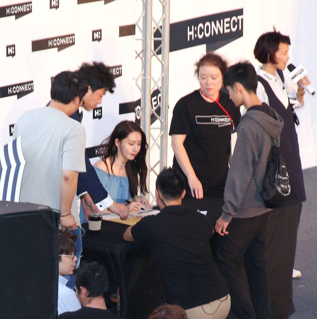 少女時代潤娥來台舉辦粉絲見面會。記者陳立凱/攝影