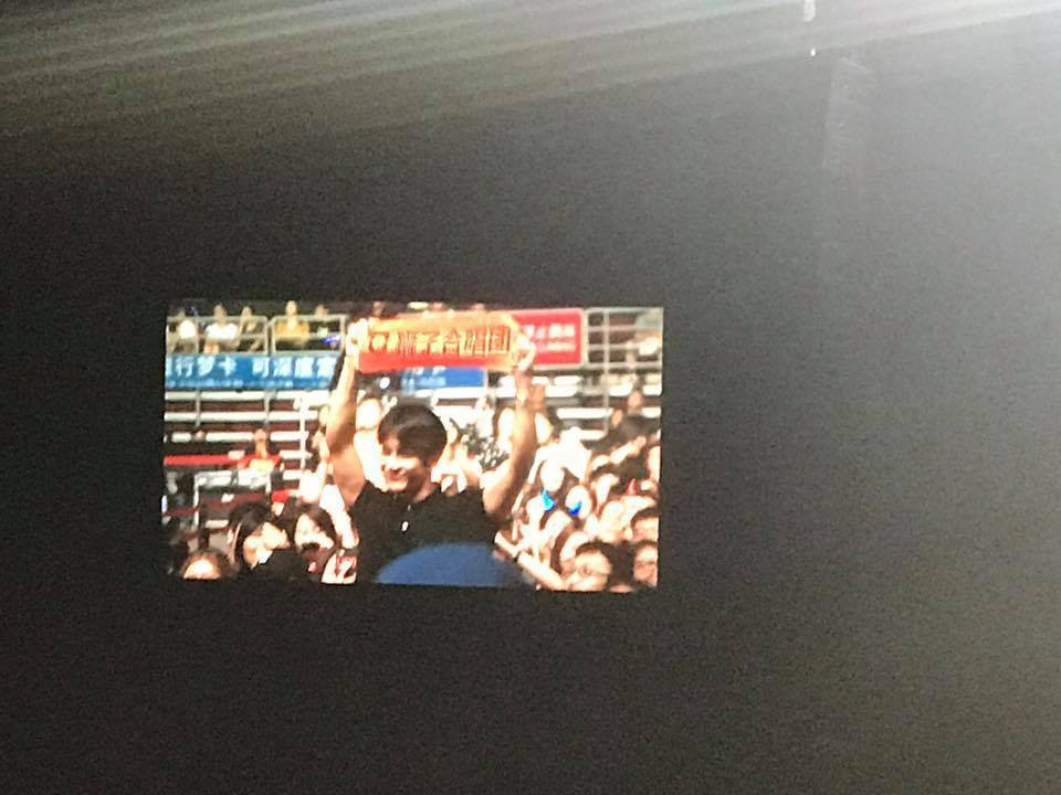 韓團GOT7成員王嘉爾到場欣賞獅子合唱團演唱會。記者梅衍儂/攝影