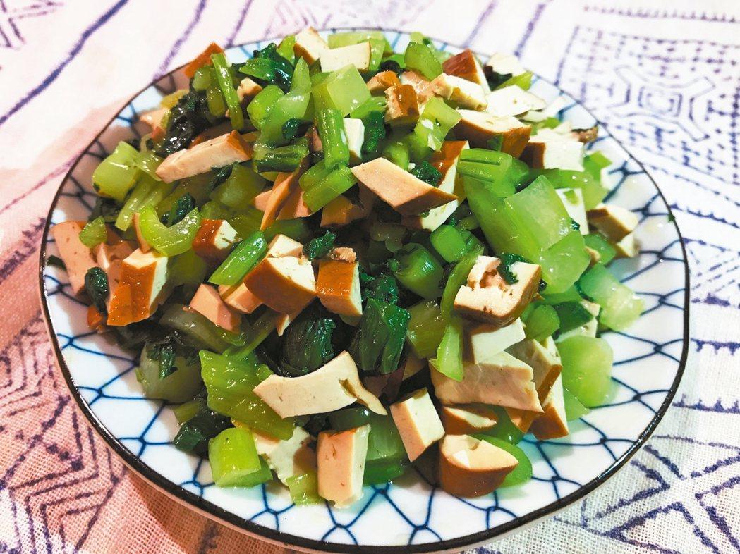 油菜豆干 圖/邵冰如