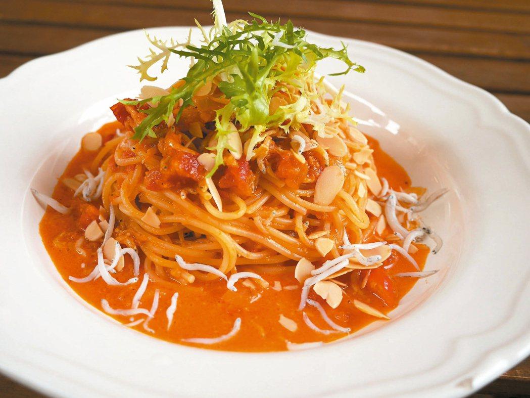 蕃茄義大利麵。 記者吳淑君/攝影
