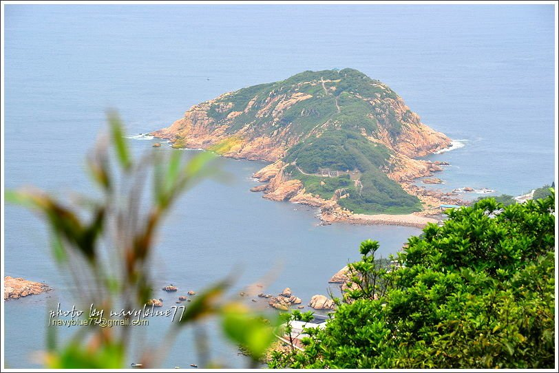 ↑大頭洲是一個很有地形特色的陸連島,布魯列入下回到香港的探索名單中。