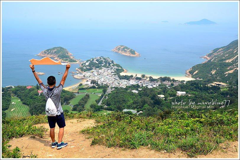 ↑這位路人乙感覺好像一直入鏡耶?因為他是布魯的老弟,這次香港步道操勞行,還好有他...
