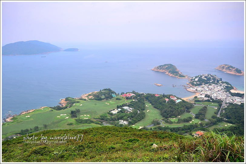 ↑由打爛埕頂山還是可以俯瞰整個石澳地區的風光,還可看到遠方的東龍洲島。