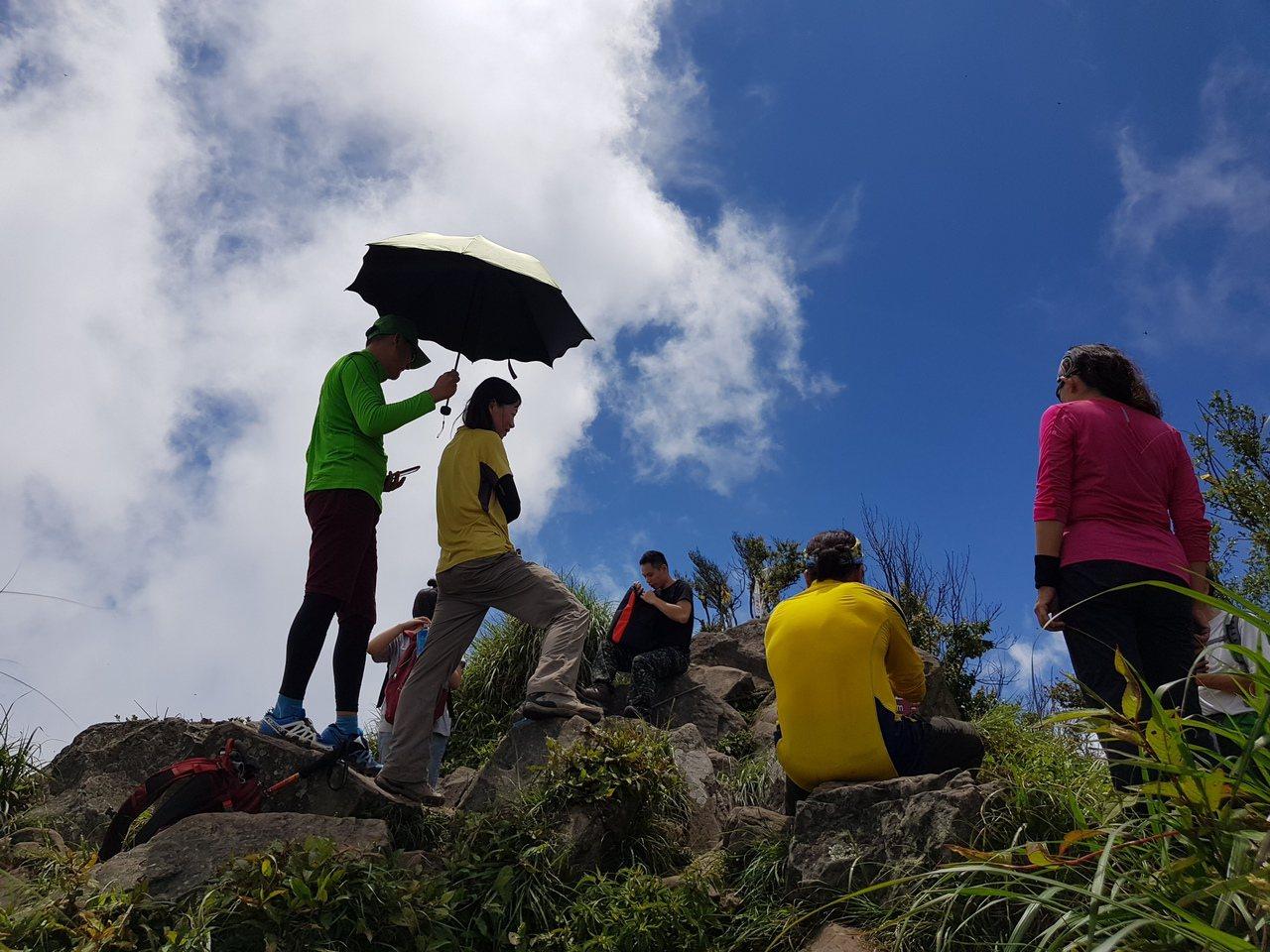 加里山是熱門的中級山,每逢假日不少登山客湧入。記者黃瑞典/攝影