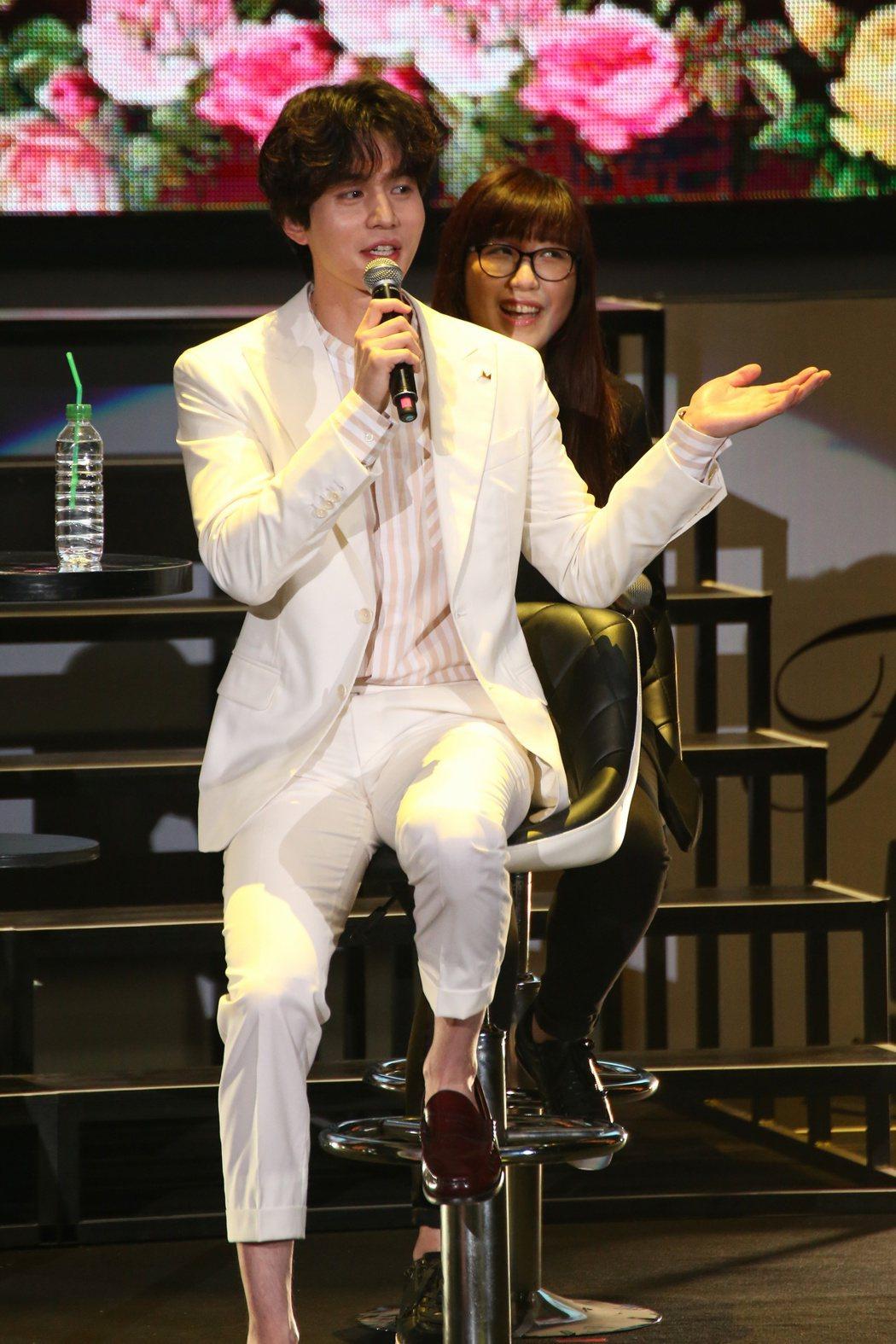 李棟旭於台北國際會議中心舉辦亞洲巡迴粉絲見面會。記者陳立凱/攝影
