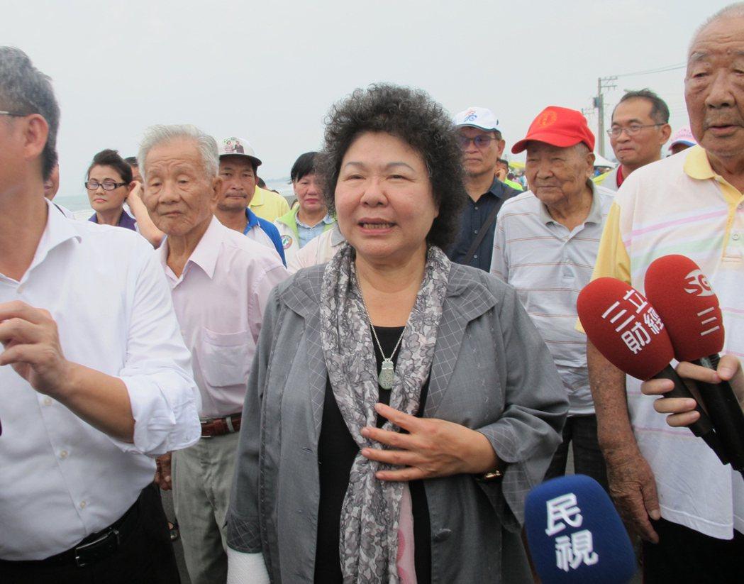 若賴清德想接任閣揆,高雄市長陳菊(見圖)是強力挑戰者。 中央社