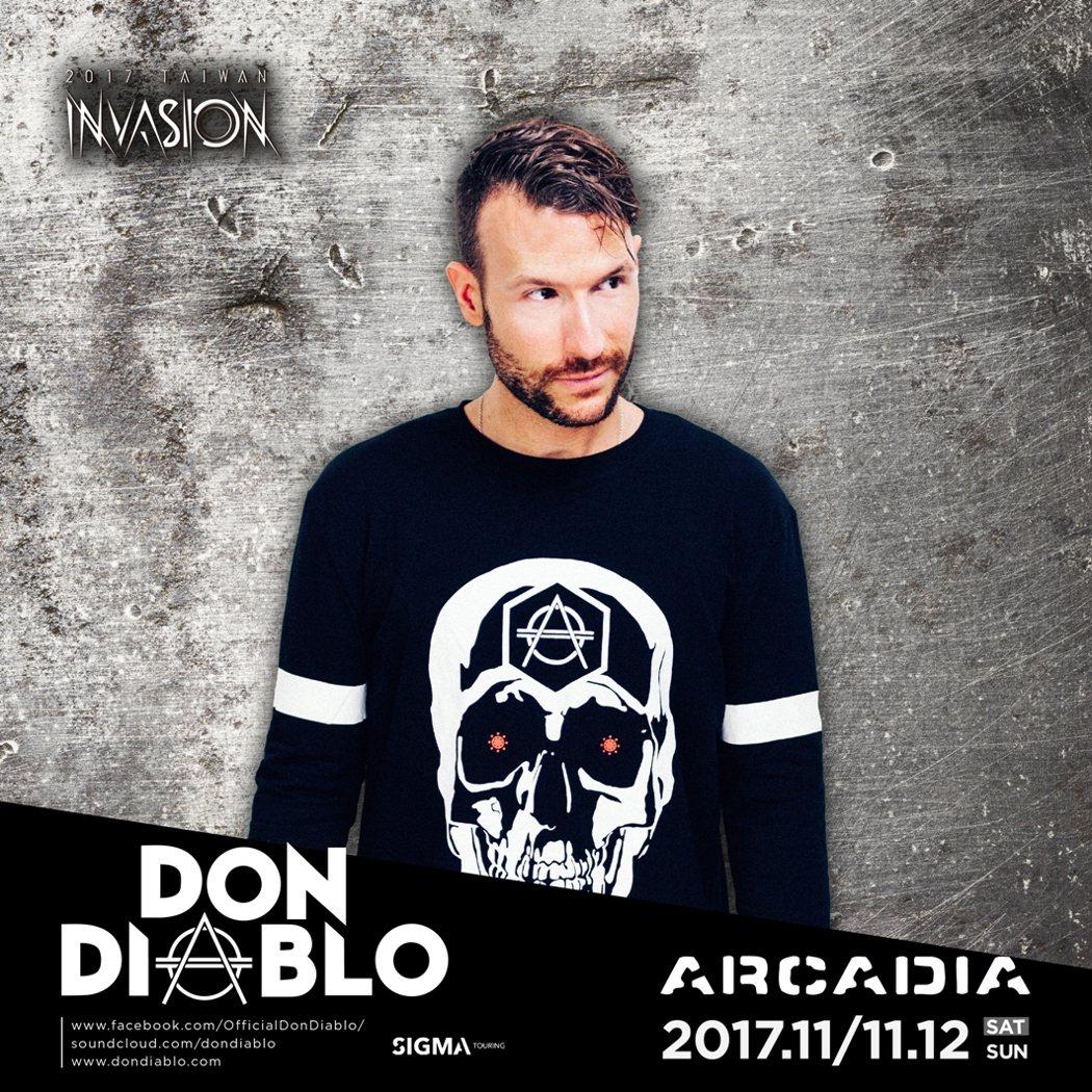 11月的Arcadia電子音樂節有請百大DJ人的高手來台,圖為Don Diabl...