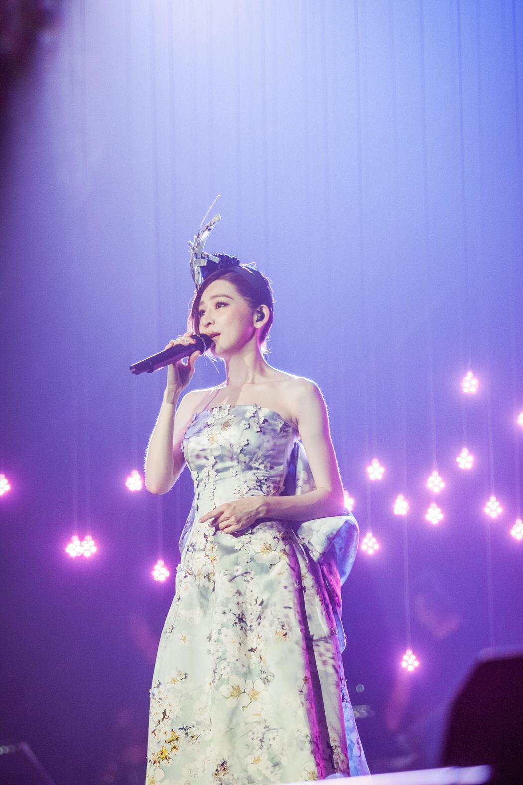 王心凌頂39度南京開唱。圖/天晴提供