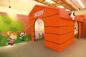首度公開的史努比大型紅色狗屋,格外搶眼。 圖/信石媒體、聯合數位文創提供