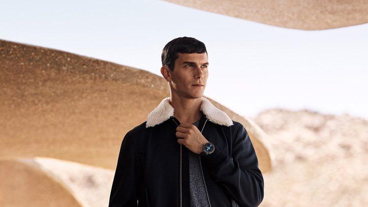 路易威登Tambour Horizon智能錶是史上第一款專為旅人而生的腕錶。 圖...