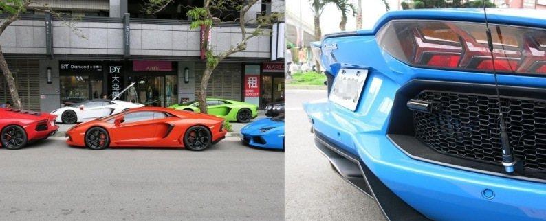 Lamborghini車隊,也是幾乎都有裝上天線/圖片來源/ mobile01
