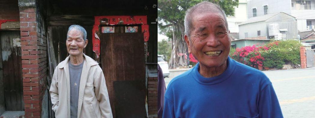 圖左:86歲邱得興是中洲寮人,他對當地居民早期如何不靠水力取得竹材的生活經驗仍有...