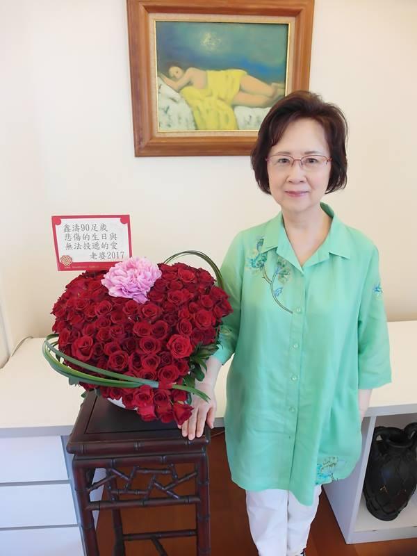 瓊瑤臉書再開啟,發文祝病床上的先生平鑫濤生日快樂  圖/摘自瓊瑤臉書