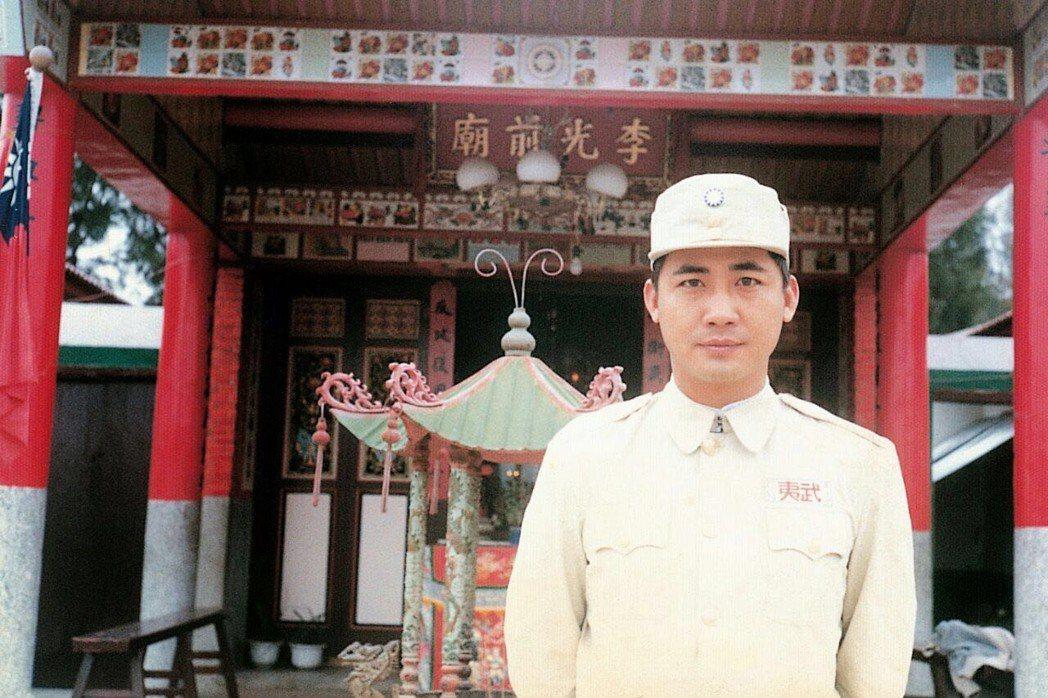 梁修身在民國67曾在電影「古寧頭大戰」中演李光前將軍。圖/梁修身提供