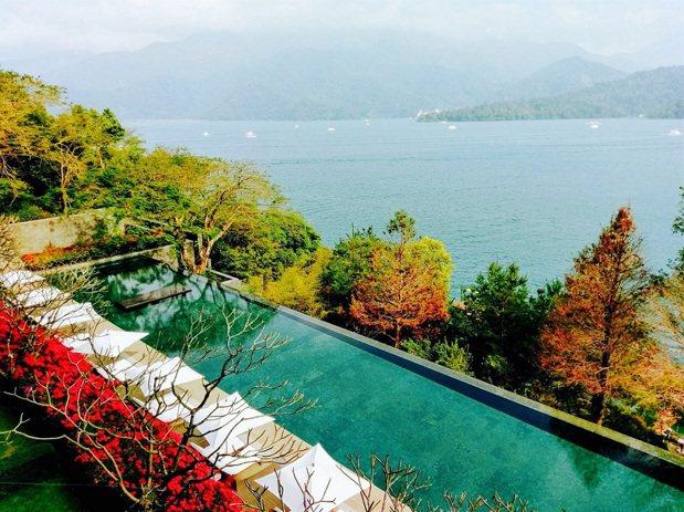 南投日月潭涵碧樓酒店坐擁山林之美,不用出國就充滿度假感。圖/KAYAK提供