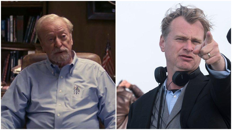 克里斯多夫諾蘭(右)新片「敦克爾克大行動」也有老牌影星米高肯恩的客串。圖/華納兄